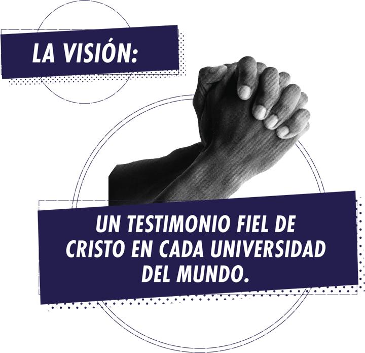 La visión: Un testimonio fiel de Cristo en cada universidad del mundo.